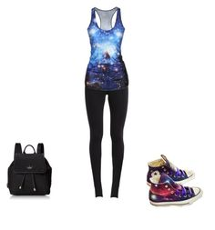 """""""Untitled #6"""" by xrisoula1-1 ❤ liked on Polyvore featuring NIKE, Converse and Kate Spade"""