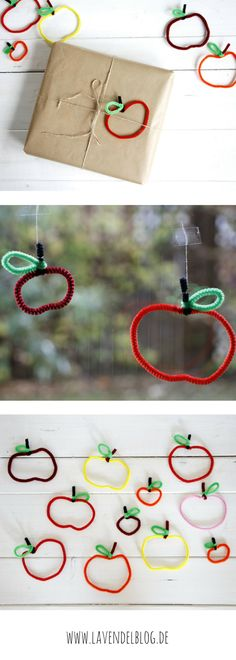 Crafting with pipe cleaners: Ideas for autumn decoration for the window, cute gifts . - Kiga basteln - Welcome Crafts Hobbies For Kids, Hobbies And Crafts, Quick Crafts, Diy Crafts To Sell, Easy Diy Gifts, Cute Gifts, Fall Crafts For Kids, Diy For Kids, Pipe Cleaner Crafts