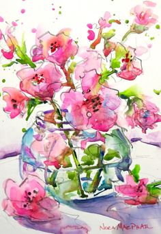 Hand Painted Original Watercolour Painting by WatercoloursbyNora