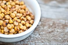 Salt & Vinegar Roasted Chick Peas. 2 cups canned chickpeas; 3-4 cups white vinegar; 1 tsp Coarse sea salt; 2 tsp extra virgin olive oil. 425F for 35-45 mins, flipping once half way through.