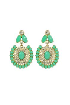 Perfect for any spring occasion, these Bright Beryl Earrings by Kate Spade are a statement piece that will play up any dress or outfit.
