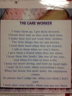 Home health aides, homemakers, Nursing assistants. Very underpaid, very…