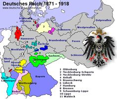 Map of Prussia 1871 - 1918