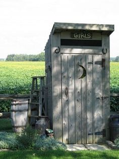 Image detail for -Old Outhouse - - Girl's
