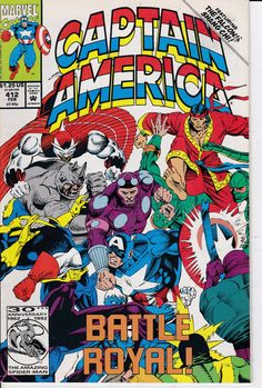 Captain America 412 February 1993 Issue Marvel by ViewObscura Captain America Villains, Captain America Comic Books, Marvel Captain America, Marvel Comic Books, Comic Book Heroes, Comic Books Art, Marvel Comics, Comic Art, Book Art