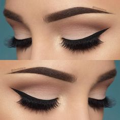 Soft pink eye look with a perfect wing.