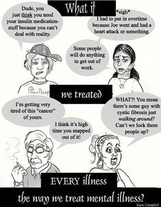 The frustrating way people talk about mental illness versus other illnesses.