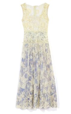 Gregory Parkinson Lurex Lace and Satin Face Organza Dress - Pretty.