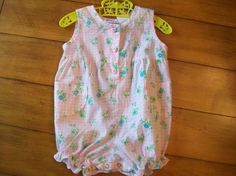 Size 12 months Vintage Small Steps Infant Girl Pink by LittleMarin,