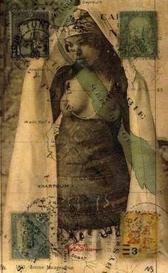 nick bantock's collaged morocco