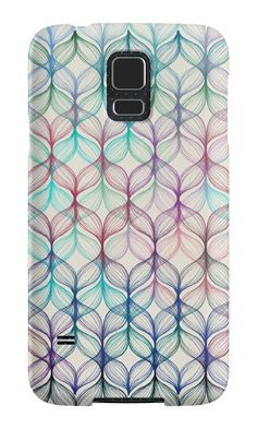 """Mermaid's Braids - a colored pencil pattern"" Samsung Galaxy Cases & Skins by micklyn 