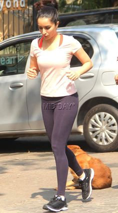 Shraddha Kapoor a spotted jogging in Bandra