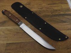 """vintage Carbon Steel RAZOR SHARP Butcher hunting bushcraft bowie Knife 7"""" blade #Unbranded Mountain Man, Cooking Tools, Bushcraft, Bowie, Knives, Hunting, Steel, Website, Antiques"""