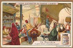 Turkish Grand Bazaar In Constantinople Turkey 1910 Card