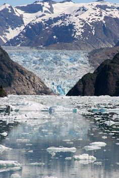 The Life and Death of a Glacier the South Sawyer Glacier in Juneau, Alaska.