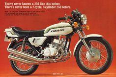 1972 Kawasaki S1 250cc 2-Stroke Motorcycle