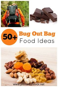 50+ Bug Out Bag Food Ideas. We can go approximately 3 weeks without food before dying.  But, let's be honest here: I get cranky and tired after going without food for even half a day!  That is why I think it is so important to add some survival food to your Bug Out Bag. A Bug Out Bag is meant for your survival, so each item should be chosen with care.  This includes the food for your Bug Out Bag.  Here are the requirements I have when selecting Bug Out Bag food.