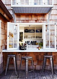 Love 'Pass-Thru's like this one from the kitchen to outdoors. Design Chic: House Tour: California Beach House