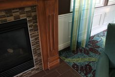 Parlor Fireplace and drapery Ketron Tile Fireplace Tile Simple Pictures, Beautiful Pictures, Glass Mosaic Tiles, Tile Mosaics, Crossville Tile, Tile Fireplace, Fireplace Ideas, Senior Living, Brick