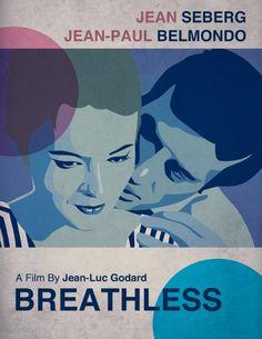 ~Breathless by Godard w/Seberg & Belmondo ~ first of the French New Wave Cinema ~*