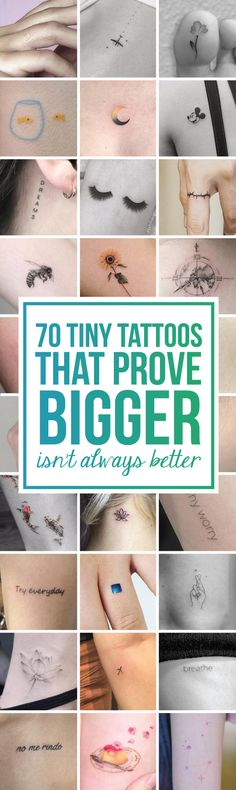 70 Tiny Tattoos That Prove Bigger Isn'€™t Always Better - TattooBlend