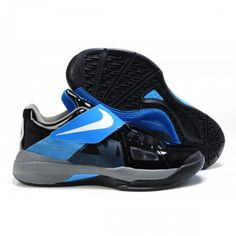 new products f6b92 5bfed Discount Buy Nike Zoom KD IV Kevin Durant 4 Shoes Black Blue Blue, Shoe Sale