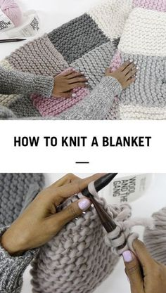 The Easiest Way to Learn How to Knit a Blanket from @woolandthegang More