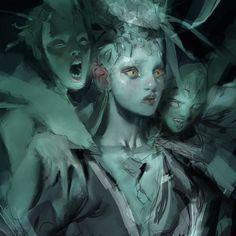 dark and dangerous illustration Fantasy Kunst, Dark Fantasy Art, Art And Illustration, Bild Tattoos, Arte Obscura, Pretty Art, Character Design Inspiration, Aesthetic Art, Art Inspo
