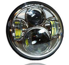 24907 motorcycle-parts Chrome 5.75 5 3/4 Motorcycle Projector LED Light Bulb Headlight For Harley Day  BUY IT NOW ONLY  $89.99 Chrome 5.75 5 3/4 Motorcycle Projector LED Light Bulb Headlight For Harley Day...