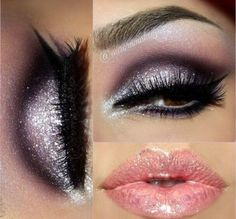 Ooh love this look! Dark eyes and nude lips