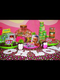 Candy Buffet table Owl Theme Party