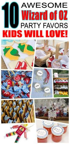 Great wizard of oz party favors kids will love. Fun and cool wizard of oz birthday party favor ideas for children. Easy goody bags, treat bags, gifts and more for boys and girls. Get the best wizard of oz birthday party favors any child would love to take home. Loot bags, loot boxes, goodie bags, candy and more for wizard of oz party celebrations.