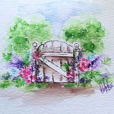I love this little gate from @artimpressions EZ Project A Watercolor Series…