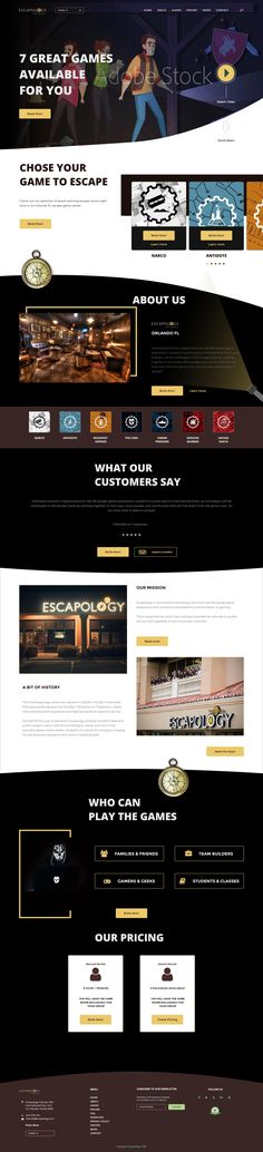 Orlando Escapology Homepage #websitedesign   Need a website, or have project in mind? We'll love to help, give us a shout and let's bring your dreams to life.  #websitedesign #ui #uxdesign #uiuxdesign #business