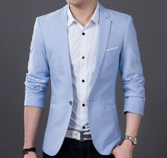 Men Casual Summer Style Sports Coat on Sale. Take $24 off instantly. No Code Require. Reg $69.95! Material : Polyester / Cotton Blend Color : Light Blue or Black Size : XS , S, M, L XS Length : 25.545