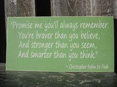 Winnie der Puuh Christopher Robin Zitat 10 x von RusticPineDesigns