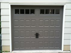 Single Raised Panel Carriage House Garage Door with Handles