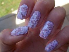 Lace wedding nail art 2015