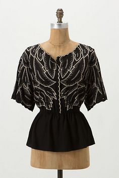 Descending Peplum Blouse (anthro won this round; this is now hanging in my closet. love it!!)