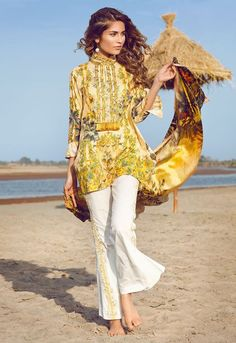 Cross Stitch Ceylon Yellow Summer Lawn 2017 Volume 2 Price in Pakistan famous brand online shopping, luxury embroidered suit now in buy online & shipping wide nation..