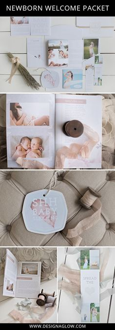 Set yourself apart from the competition with this gorgeous Newborn Welcome Packet from Design Aglow. Images by Ryaphotos. #designaglow