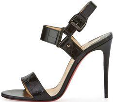 "8524a50425c0 Christian Louboutin ""Sova"" Sandals Red Bottom Heels"