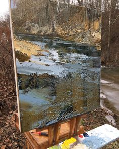 "1,817 отметок «Нравится», 37 комментариев — Lynn (@boggess_fine_art) в Instagram: «30x26"". #painting #pleinair #pleinairpainting #contemporarypainting #ice #melt #stream #lynnboggess…»"
