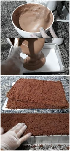 MASSA DE BOLO DE CHOCOLATE PROFISSIONAL #bolo #massa #chocolate #receita #gastronomia #culinaria #comida #delicia #receitafacil