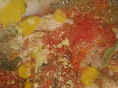 Foto del paso 7 de la receta Comida muy casera de domingo arroz de verduras y pollo sudado Salsa, Curry, Mexican, Ethnic Recipes, Food, Gourmet, Spinach, Vegetables, Hot Pot