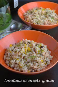 Mexican Food Recipes, Healthy Recipes, Ethnic Recipes, Healthy Food, Friend Recipe, Couscous Salad, Fried Rice, Tuna, Grains