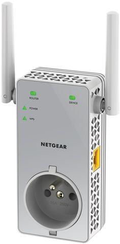 [TABLOÏD SEPTEMBRE 2015] L'unique répéteur AC750 avec prise filtrée du marché  AC750 (750 Mbits/s) 1 Port Fast Ethernet Wi-Fi Dual Band Facilité d'utilisation d'un répéteur mural Aide à l'installation pour plus de performance via l'application NETGEAR Wi-Fi Analytics RÉF. EX3800-100FRS http://www.exertisbanquemagnetique.fr/info-marque/netgear