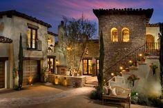 Mediterranean Homes Exterior, Mediterranean House Plans, Mediterranean Architecture, Mediterranean Decor, Tuscan House Plans, Tuscan Style Homes, Spanish Style Homes, Italian Homes Exterior, Exterior Homes