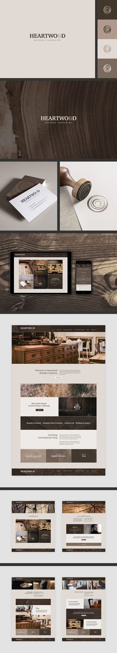 Branding and web design/build for a local carpentry firm specialising in bespoke furniture - Eight Seven Creative - eightseven.co.uk