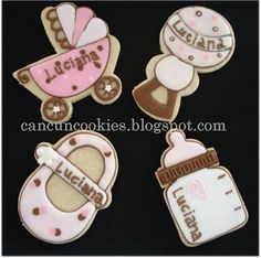 baby shower cookies -I love the baby shoe :)